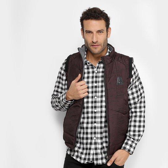 f13411e443 Colete Broken Rules Dupla Face Masculino - Vinho - Compre Agora ...