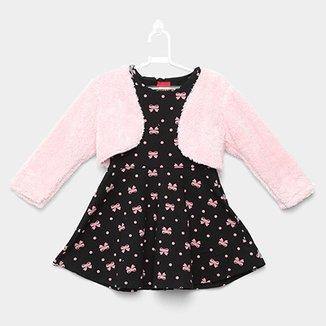 Vestido Infantil Kyly Regata com Bolero b7c650c9188