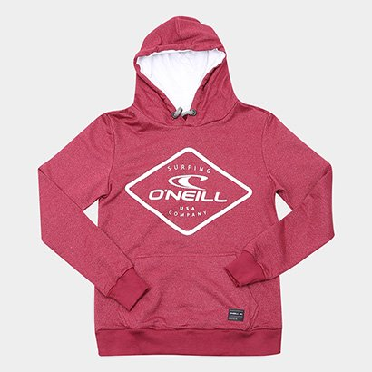 Moletom Infantil O'Neill Logo Capuz Bolso Canguru Masculino