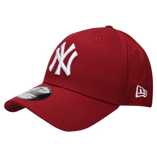 f9332d0a31617 Boné New Era 3930 Hc White On Cardinal New York Yankees - Vermelho Escuro