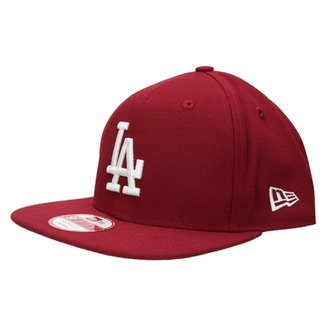 Boné New Era 950 Of Sn White On Cardinal Los Angeles Dodgers eaef03b6deb