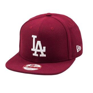 Boné New Era Snapback Original Fit Los Angeles Dodgers Bordô 41eaa500bb8