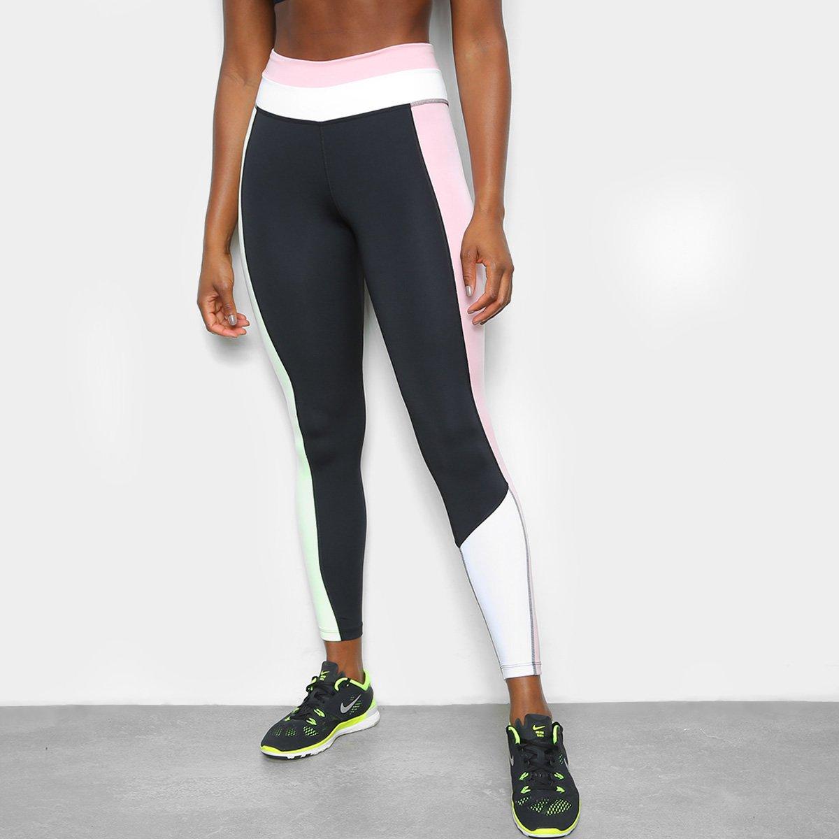 Calça Legging Nike One Colorblok Cintura Alta Feminina
