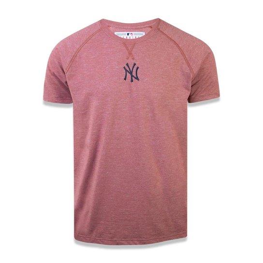 Camiseta New York Yankees MLB New Era Masculina - Vinho - Compre ... 04ca3dad99a