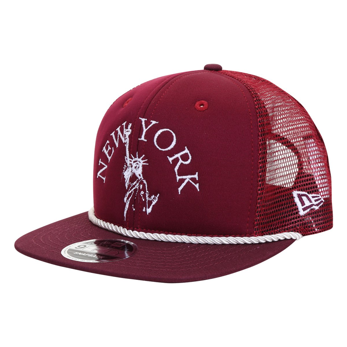 Boné New Era Aba Reta Snapback 950 Of New York Liberty Maroon