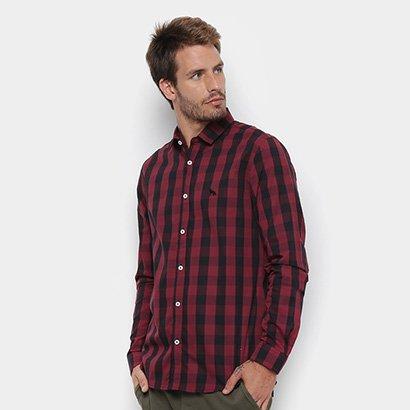 Camisa Manga Longa Acostamento Estampada Masculina