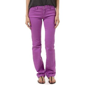 Calça Bloom Reta Judy Color Uva Feminina