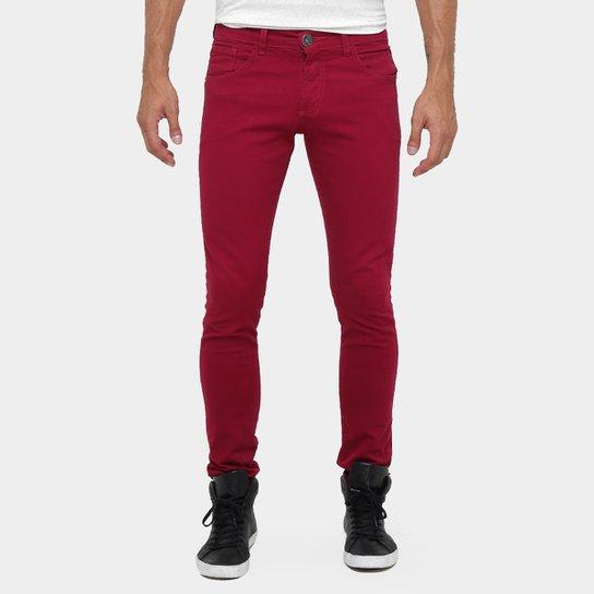 e817f6590 Calça Skinny Preston Color Masculina - Vinho | Netshoes