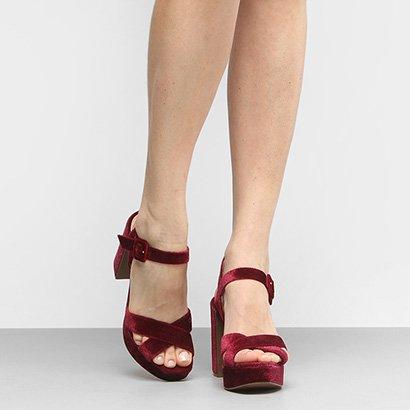 Sandália Shoestock Meia Pata Veludo