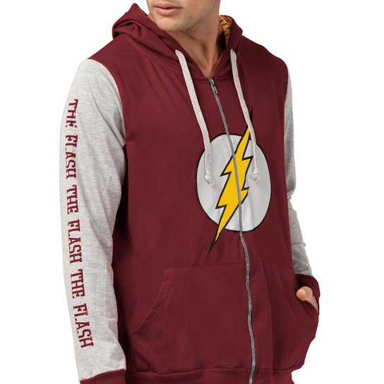 14f632442a Jaqueta Moletinho DC Comics The Flash Logo bandUP! | Netshoes