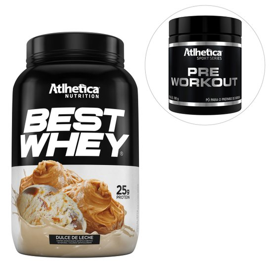 94d57616b Kit Best Whey 900g + Pré-Workout Sport Series 300g - Atlhetica Nutrition -