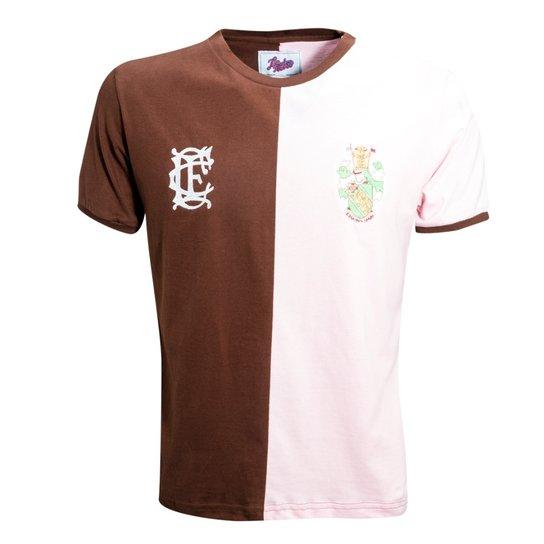 bf72235444 Camisa Liga Retrô Corinthians Casuals 1939 - Marrom e Rosa - Compre ...