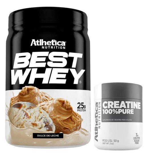 2623eadfd Best Whey Protein 3W 450g + Creatina 100% Pure 50g - Atlhetica Nutrition -