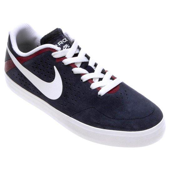 8e76609d35 Tênis Nike SB Paul Rodriguez CTD LR - Marinho+Branco