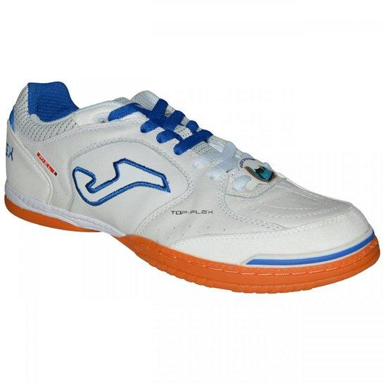 74e290d198 Tenis Joma Top Flex 602 - Branco+Azul Royal