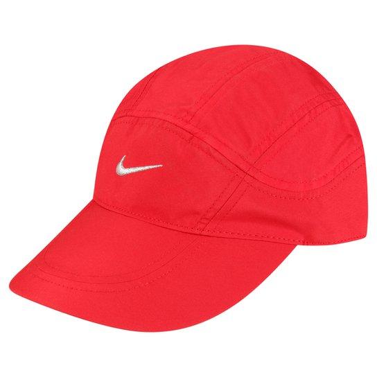 94602d3af4fbc Boné Nike Aba Curva Dri-Fit Spiros - Vermelho+Cinza