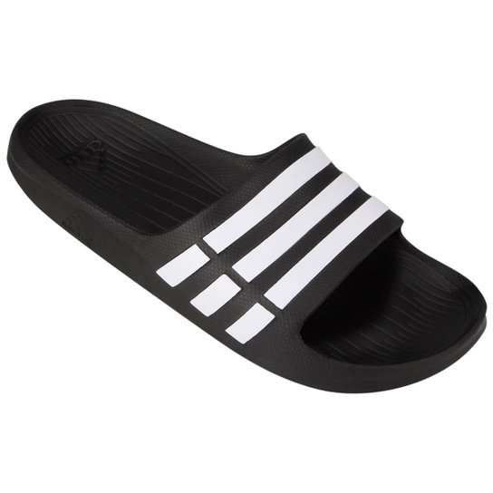 e9de91f6e Chinelo Slide Adidas Duramo - Preto e Branco | Netshoes