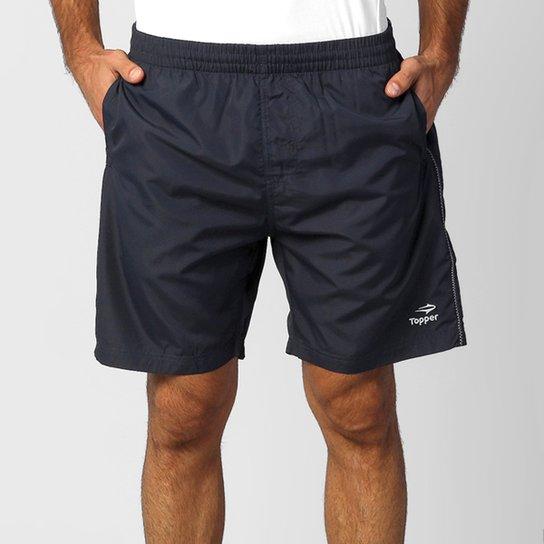 Short Topper Basic 3 - Marinho e Branco - Compre Agora  5919cffef0c6a