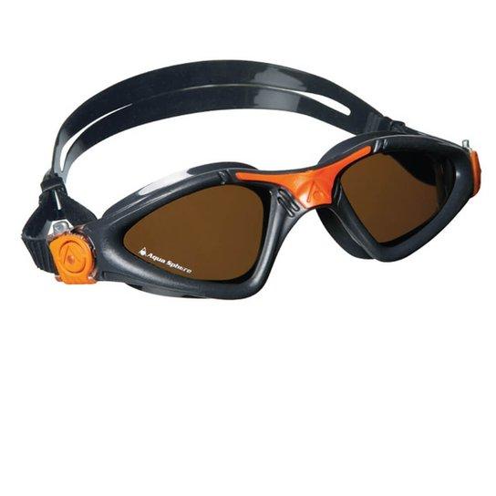 Óculos de Natação Aqua Sphere Kayenne Lente Polarizada - Grafite+Laranja b161d2b48c