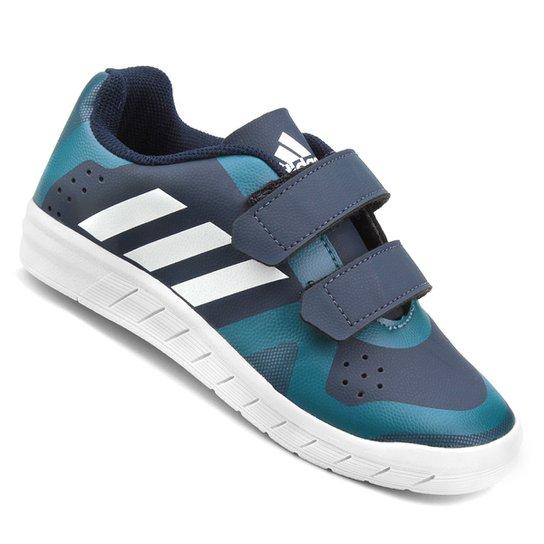 7bfdf0852 Tênis Infantil Adidas Quicksport Cf 2 C Velcro - Marinho e Branco ...
