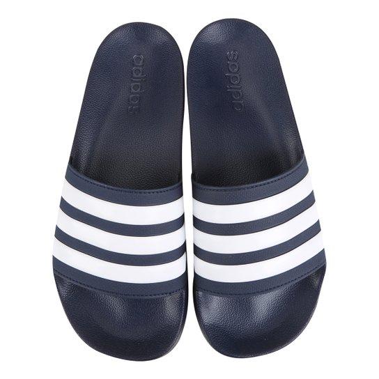 39085d54414 Chinelo Slide Adidas Adilette Cloudfoam Masculino - Marinho e Branco ...