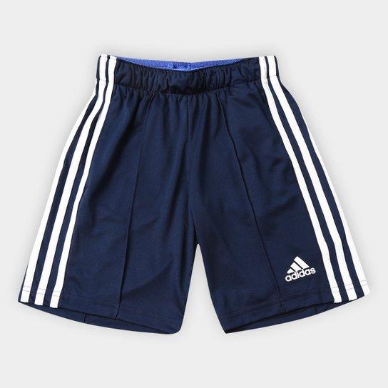 9fe271dc2 Bermuda Infantil Adidas Tr 3S Kn Masculina - Marinho e Branco | Netshoes