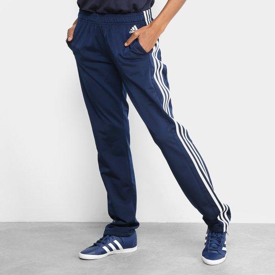 Calça Adidas D2m Straight Pt Feminina - Marinho+Branco 7b3b7959488ed