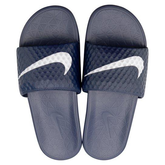 c88eaf17a12 Sandália Nike Benassi Solarsoft Tb - Marinho+Branco