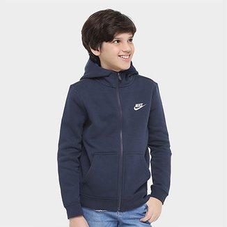 4845ac7faae68 Jaqueta Infantil Nike B Nsw Hoodie Fz Club c  Capuz