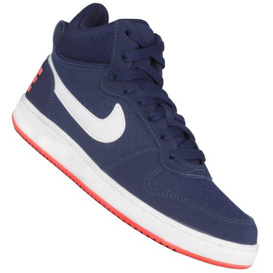 5ecb1af412944 Tênis Nike Court Borough Mid - Marinho+Branco