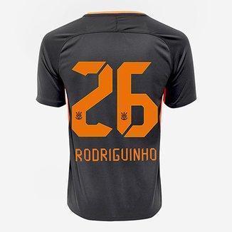 fb6cc8d5687a6 Camisa Corinthians III 17 18 nº 26 - Rodriguinho Torcedor Nike Masculina