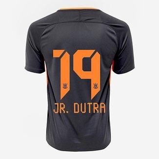 fb35cf43c1 Camisa Corinthians III 17 18 nº 19 Jr. Dutra - Torcedor Nike Masculina