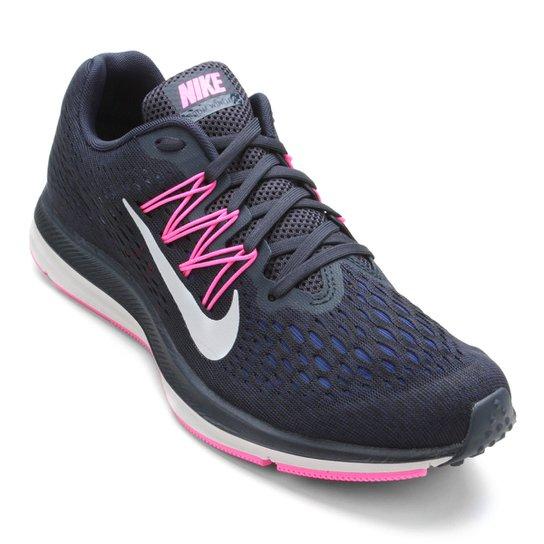 767aae90af1 Tênis Nike WMNS Zoom Winflo 5 Feminino - Marinho e Branco - Compre ...