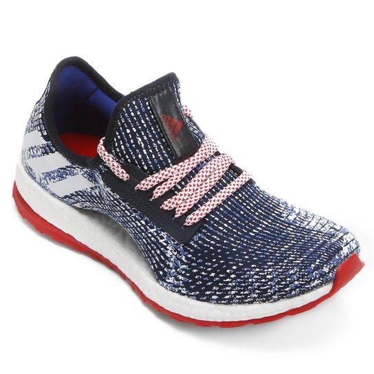 Tênis Adidas Pure Boost X Feminino - Marinho+Branco 8dc45685a69da