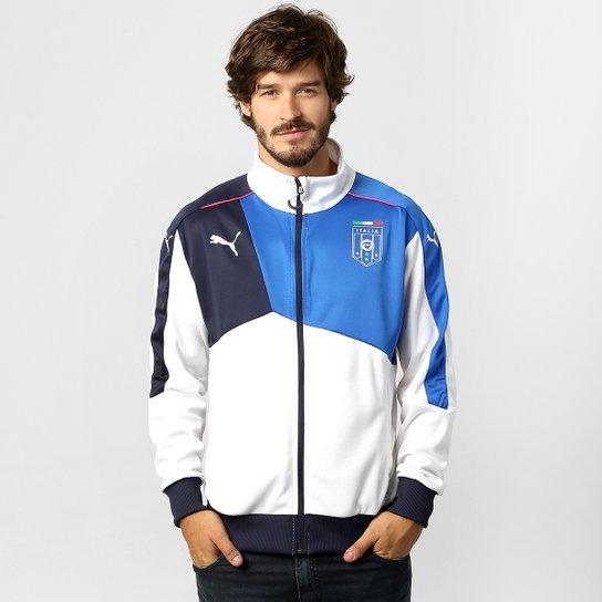3127dfb7f54d8 Jaqueta Puma Seleção Itália Stadium - Branco+Azul Royal