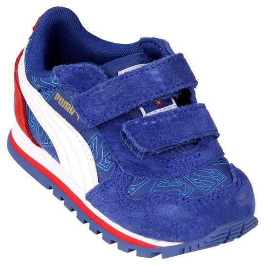 c5cb791ef Tênis Puma St Runner Superman Kids - Azul+Branco