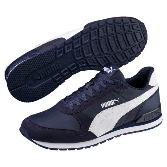 Tênis Puma St Runner V2 Nl - Marinho e Branco - Compre Agora  32d4e481b3c54