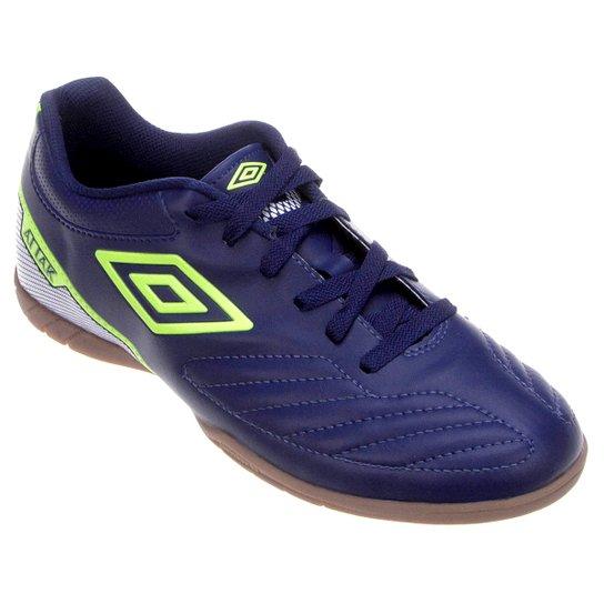 Chuteira Futsal Umbro Attak 2 Masculina - Marinho e Verde Limão ... a15423a66a627