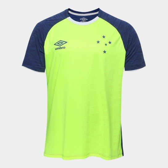 82d5b11f5c Camisa Cruzeiro Aquecimento 2018 Umbro Masculina - Marinho e Verde ...