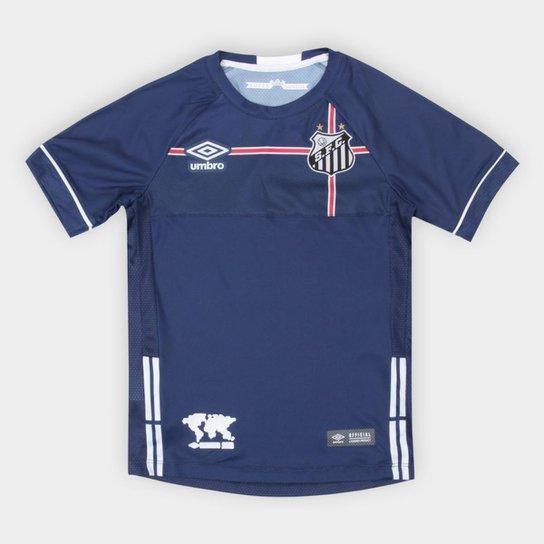 50e7ff62d6 Camisa Santos Infantil 2018 s n° The Kingdom Torcedor Umbro - Marinho+Branco