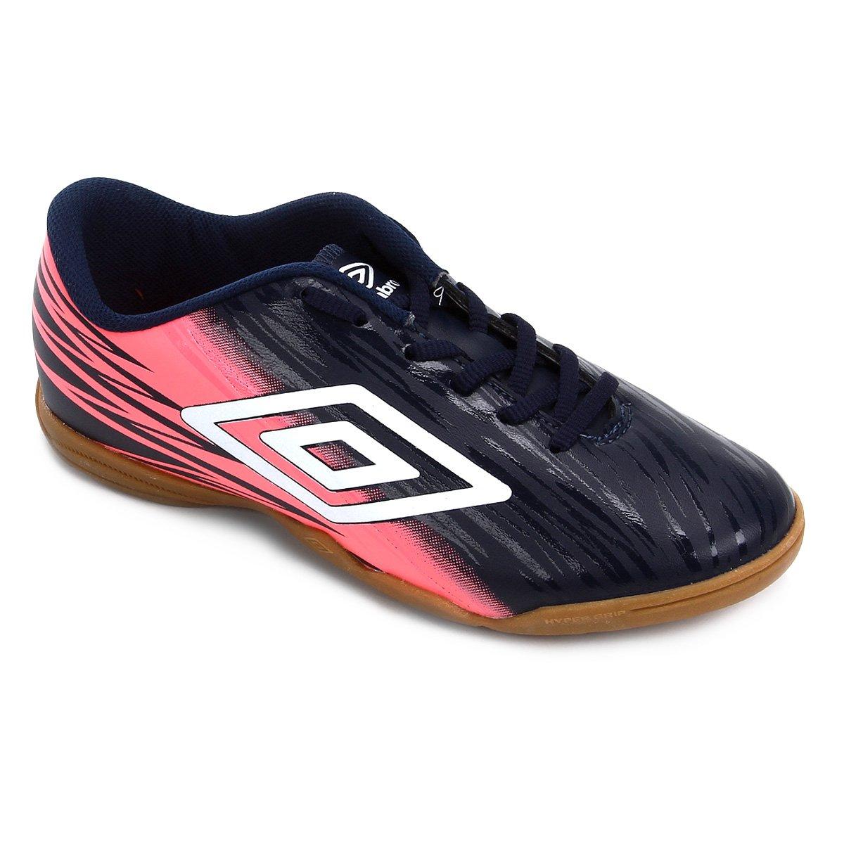 54f52a58ef Chuteira Futsal Umbro Hit Feminina - Tam  39 - Shopping TudoAzul