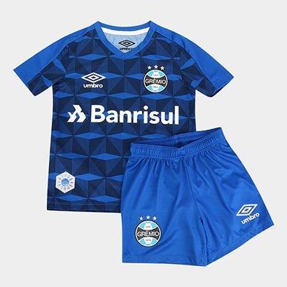 Kit Camisa Grêmio Infantil III 19/20 s/n° - Torcedor Umbro