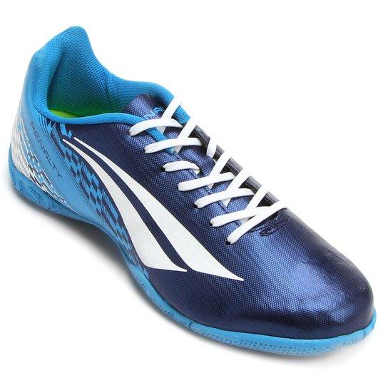 Chuteira Futsal Penalty Storm 7 Masculina - Marinho e Azul - Compre ... b92cdc7156887