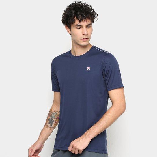 3f60d597ff5 Camiseta Fila Aztec Box Masculina - Marinho e Branco - Compre Agora ...