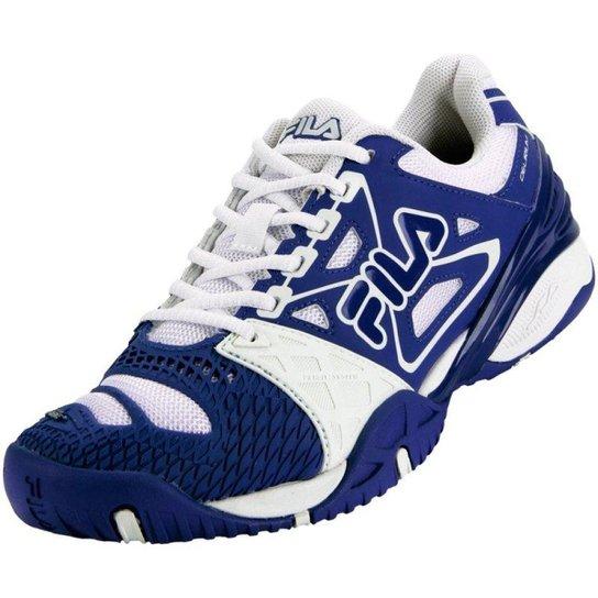 Tênis Fila Cage Delirium Royal - Branco e Azul Royal - Compre Agora ... 2c80e23a76e9b