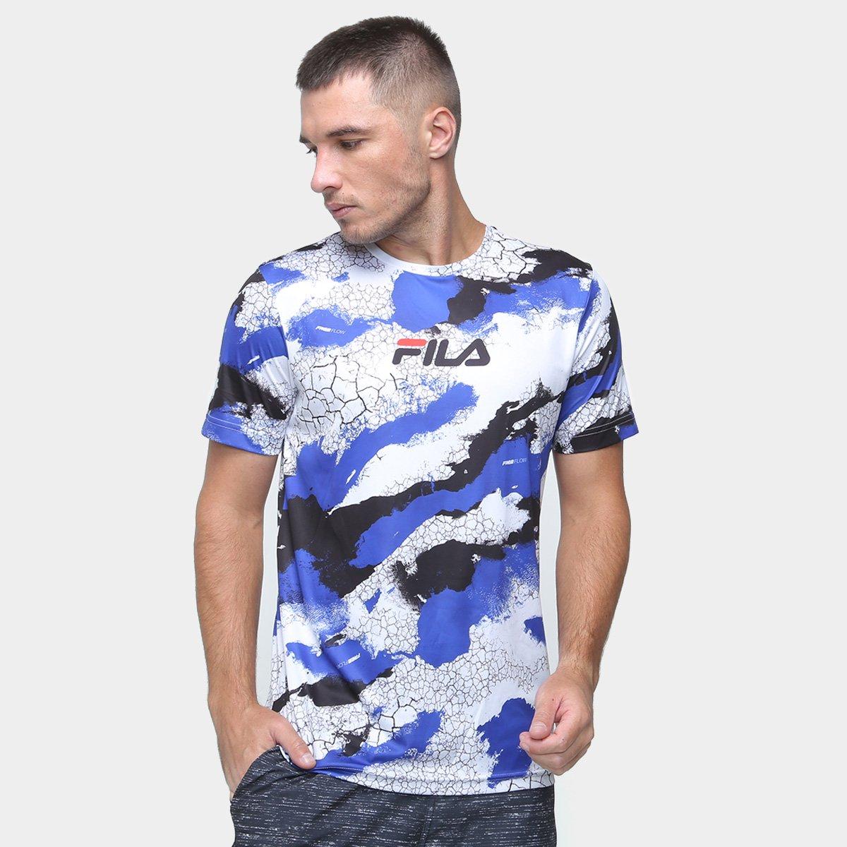 Camiseta Fila Basic Run Print Rock Masculina