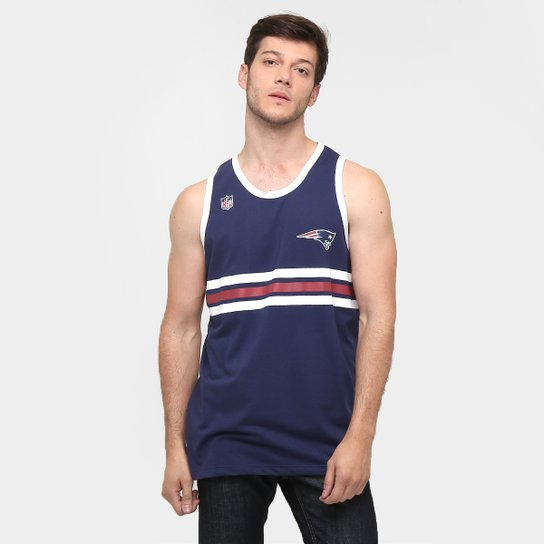 74dc50354 Camiseta Regata New Era NFL Triple New England Patriots - Marinho+Branco