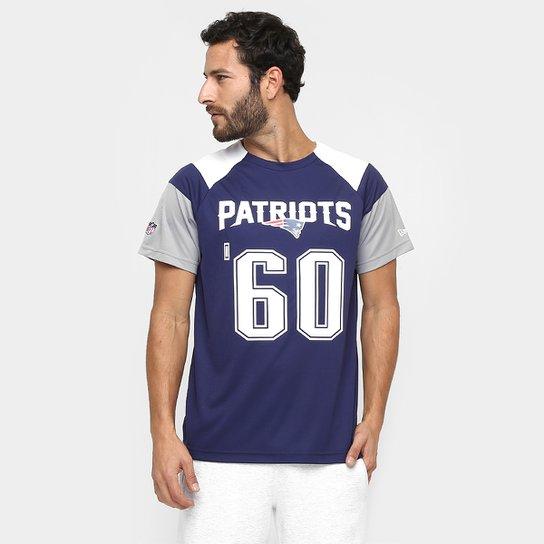 Camiseta New Era NFL Raglan Recorte New England Patriots - Marinho+Branco 3ccd8c6141a00
