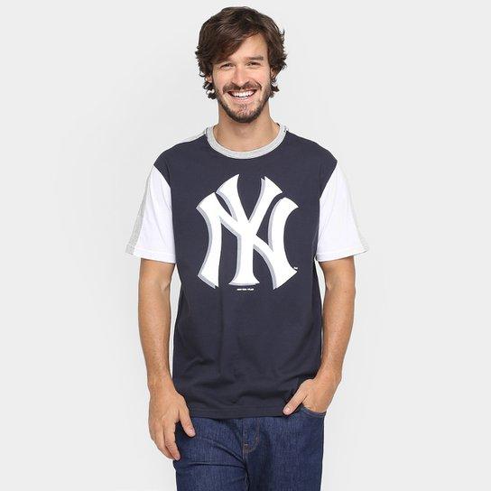 Camiseta New Era MLB Tape 27 New York Yankees - Marinho+Branco 191098304b3