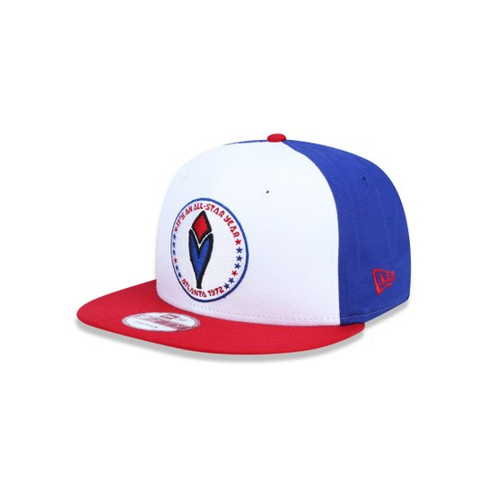 Boné 950 Original Fit Atlanta Braves MLB Aba Reta Snapback New Era - Branco +Azul 30bd3f89a39